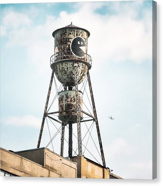 New York Water Towers 9 - Bed Stuy Brooklyn Canvas Print