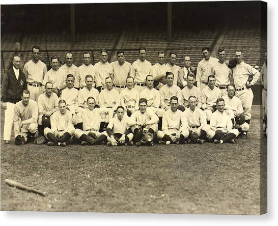 Lou Gehrig Canvas Print - New York Yankees 1926 by Unknown