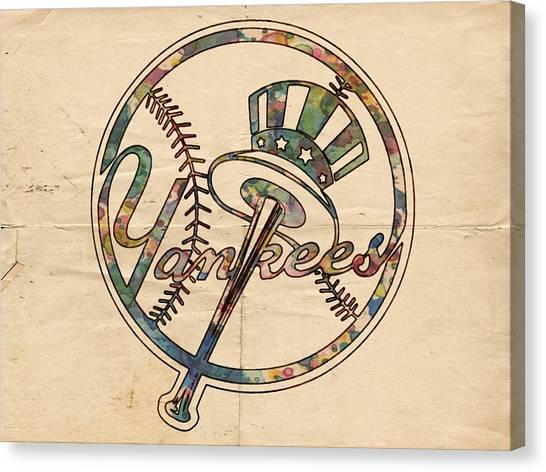 Derek Jeter Canvas Print - New York Yankees Poster Vintage by Florian Rodarte