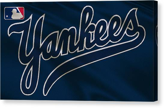 Derek Jeter Canvas Print - New York Yankees Uniform by Joe Hamilton