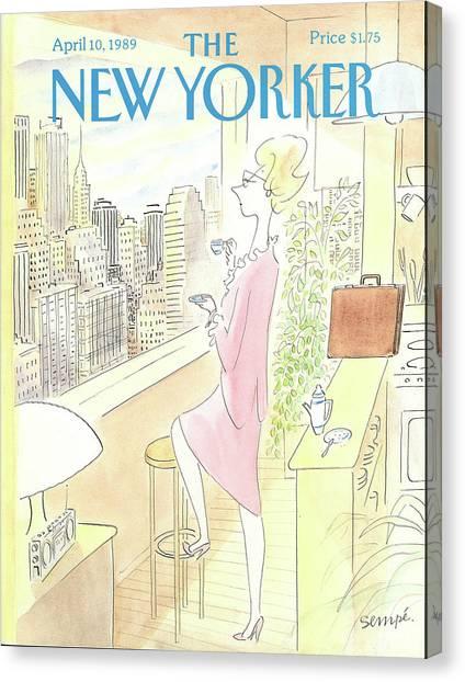 New Yorker April 10th, 1989 Canvas Print