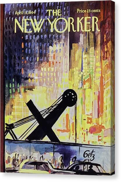 New Yorker April 11th 1964 Canvas Print by Arthur Getz