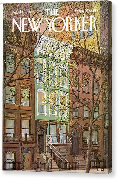Renovation Canvas Print - New Yorker April 12th, 1969 by Charles E Martin