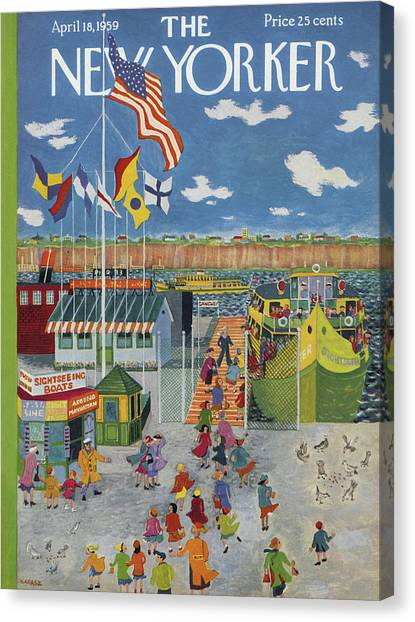 New Yorker April 18th, 1959 Canvas Print