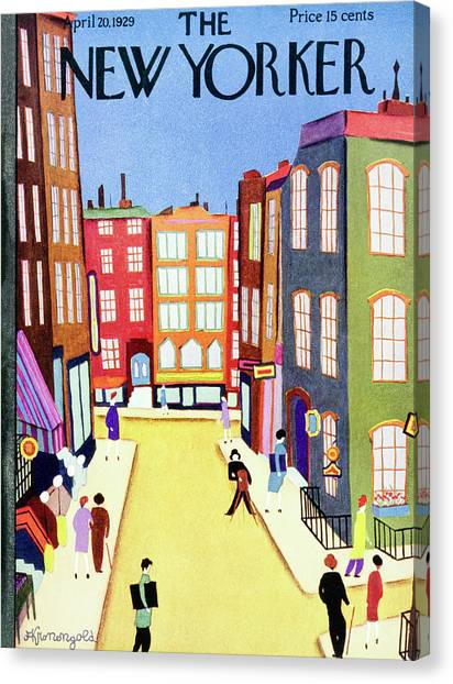 New Yorker April 20 1929 Canvas Print by Arthur K. Kronengold