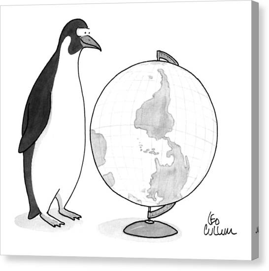 Antarctica Canvas Print - New Yorker April 20th, 1992 by Leo Cullum