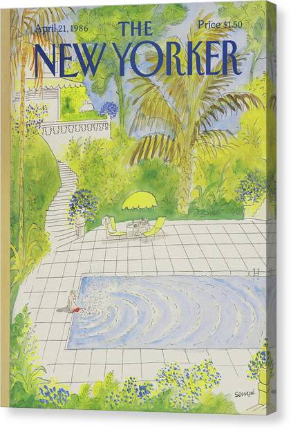 New Yorker April 21st, 1986 Canvas Print