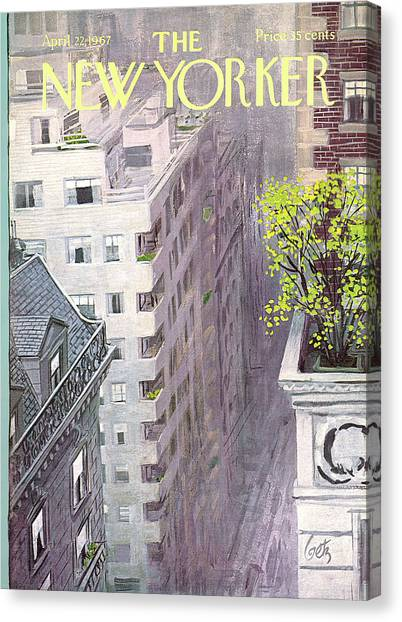 New Yorker April 22nd, 1967 Canvas Print