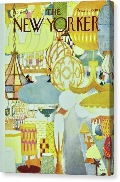 New Yorker April 23rd 1966 Canvas Print by Charles Martin