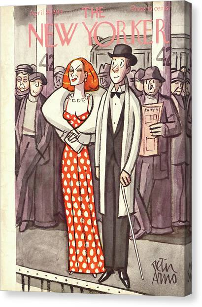 Representation Canvas Print - New Yorker April 24th, 1937 by Peter Arno