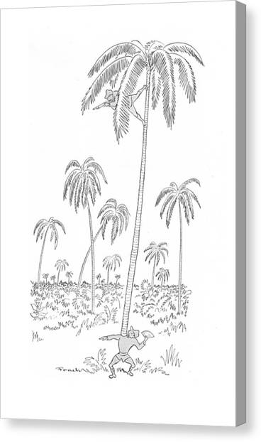 Acrobatic Canvas Print - New Yorker April 24th, 1943 by Alfred Frueh