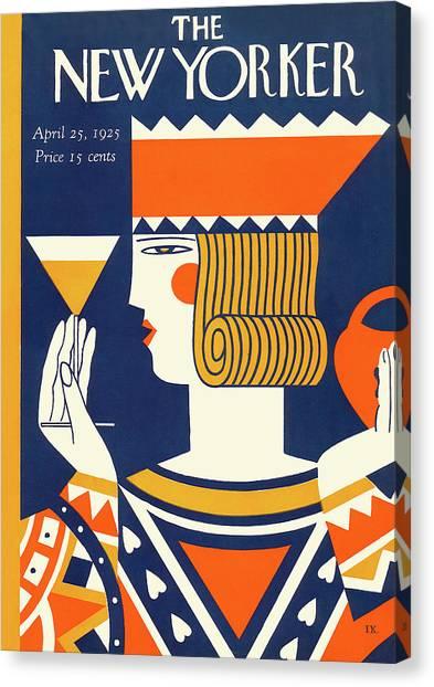 Martini Canvas Print - New Yorker April 25th, 1925 by Ilonka Karasz