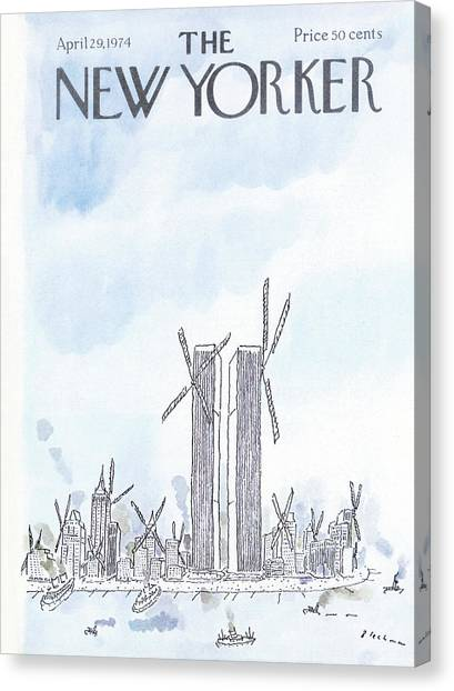 The Nature Center Canvas Print - New Yorker April 29th, 1974 by R.O. Blechman
