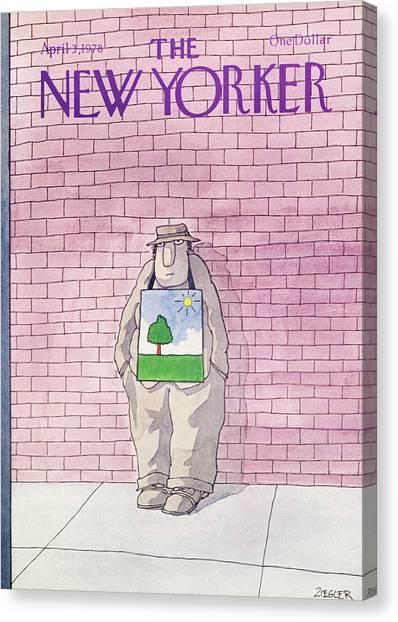 New Yorker April 3rd, 1978 Canvas Print