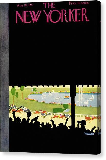 New Yorker August 10 1929 Canvas Print by Theodore G. Haupt