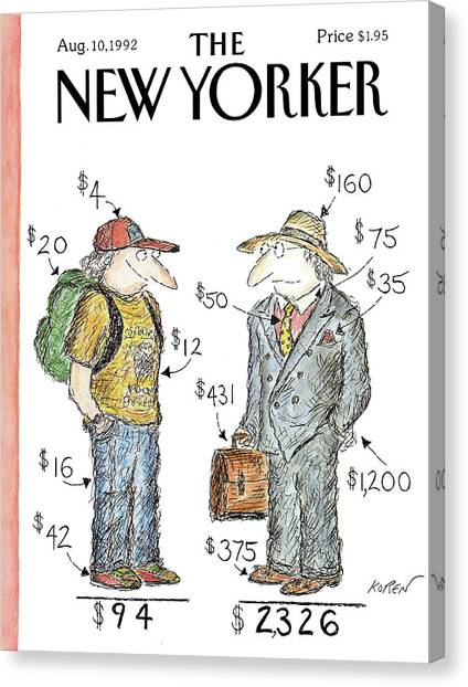 New Yorker August 10th, 1992 Canvas Print