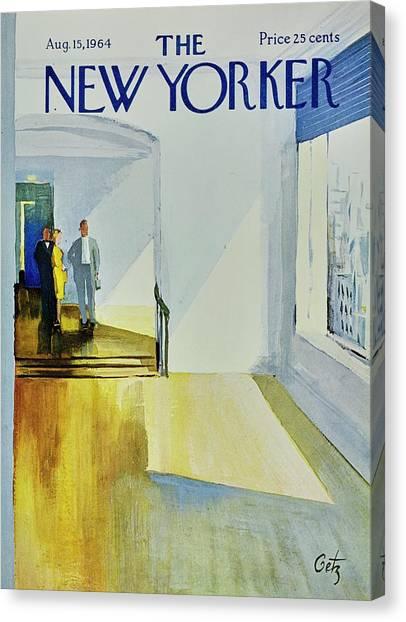 Representation Canvas Print - New Yorker August 15th 1964 by Arthur Getz