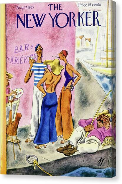 New Yorker August 17 1935 Canvas Print