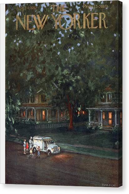 New Yorker August 24th, 1957 Canvas Print