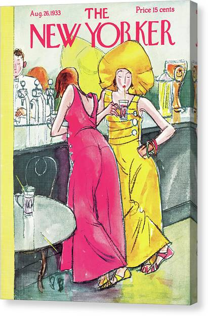Bartender Canvas Print - New Yorker August 26th, 1933 by Perry Barlow