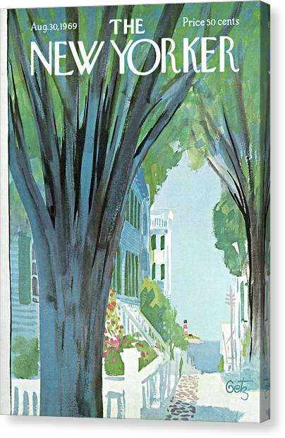 New Yorker August 30th, 1969 Canvas Print