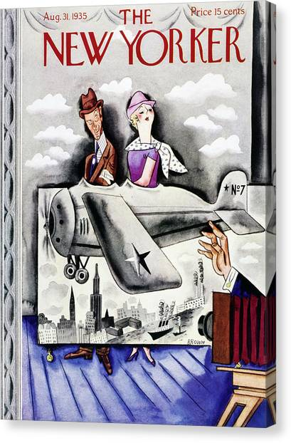 New Yorker August 31 1935 Canvas Print by Harry Brown