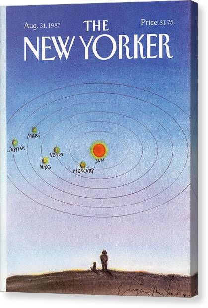New Yorker August 31st, 1987 Canvas Print