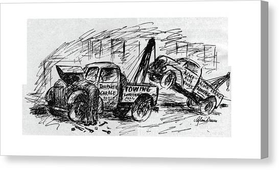 Truck Driver Canvas Print - New Yorker August 5th, 1944 by Alan Dunn