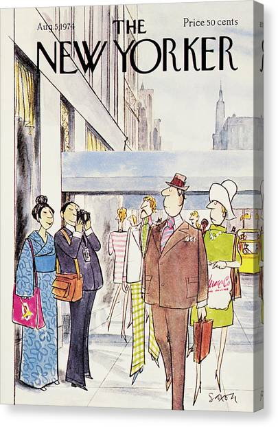1974 Canvas Print - New Yorker August 5th, 1974 by Charles Saxon