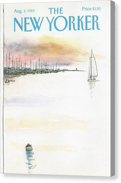 New Yorker August 5th, 1985 Canvas Print