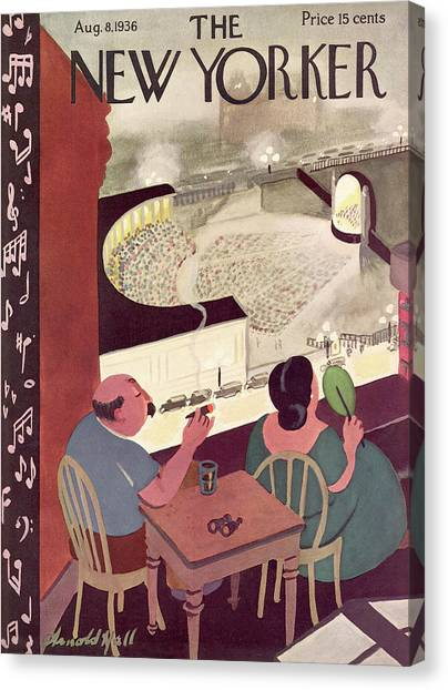 New Yorker August 8th, 1936 Canvas Print by Arnold Hall