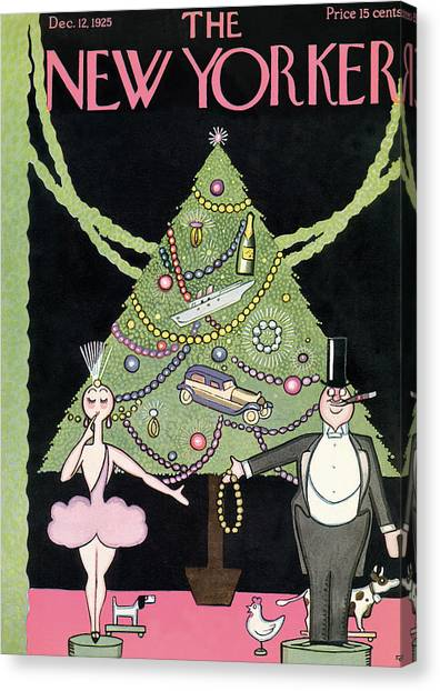New Yorker December 12th, 1925 Canvas Print