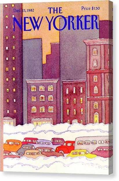 New Yorker December 13th, 1982 Canvas Print