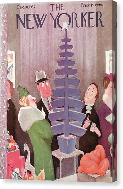 New Yorker December 18th, 1937 Canvas Print