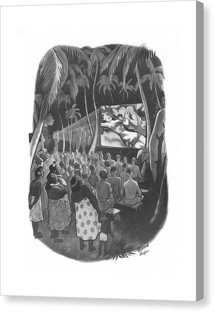 Love Making Canvas Print - New Yorker December 18th, 1943 by Richard Decker