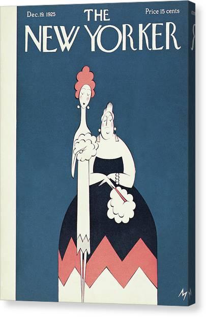 New Yorker December 19th, 1925 Canvas Print