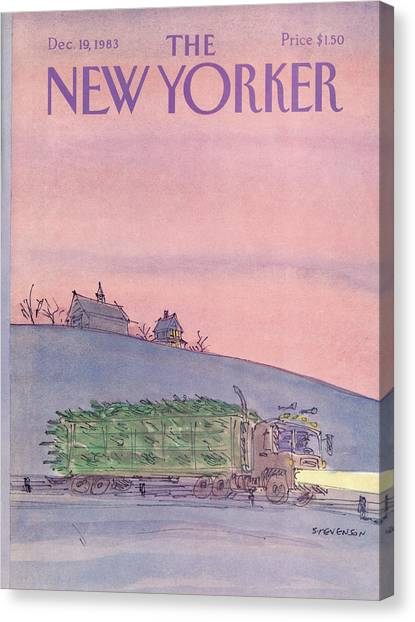 New Yorker December 19th, 1983 Canvas Print