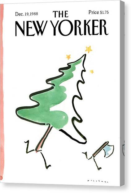 New Yorker December 19th, 1988 Canvas Print