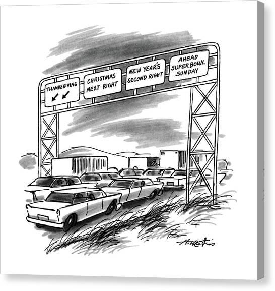 New Yorker December 1st, 1986 Canvas Print