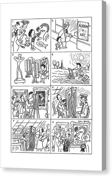 Improve Canvas Print - New Yorker December 21st, 1940 by John Groth