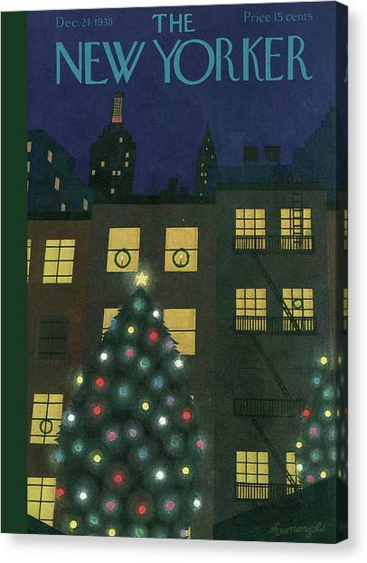 New Yorker December 24th, 1938 Canvas Print