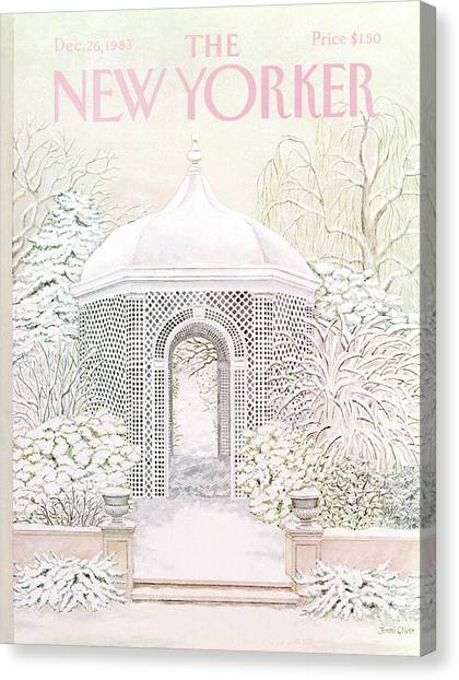 New Yorker December 26th, 1983 Canvas Print