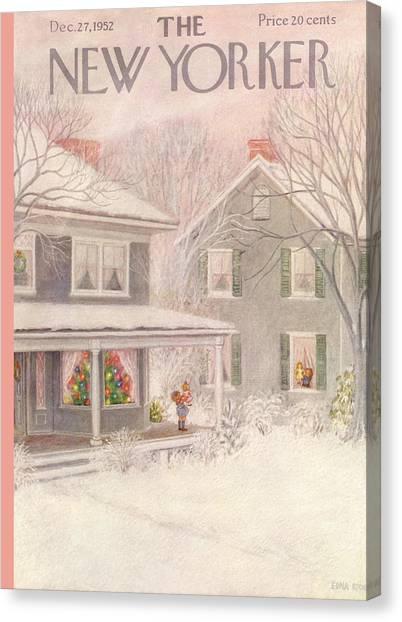 New Yorker December 27th, 1952 Canvas Print