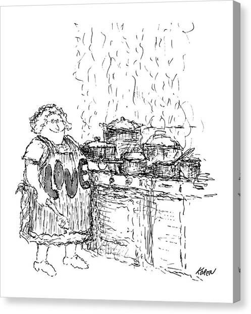 New Yorker December 27th, 1969 Canvas Print by Edward Koren