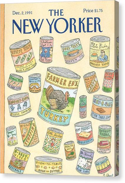 New Yorker December 2nd, 1991 Canvas Print