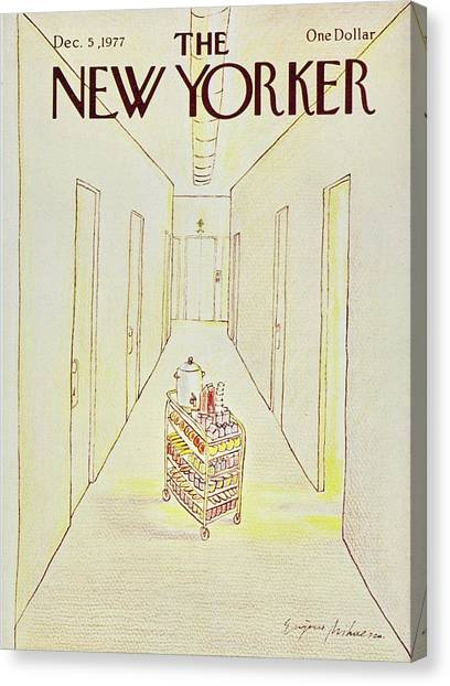 New Yorker December 5th 1977 Canvas Print by Eugene Mihaesco