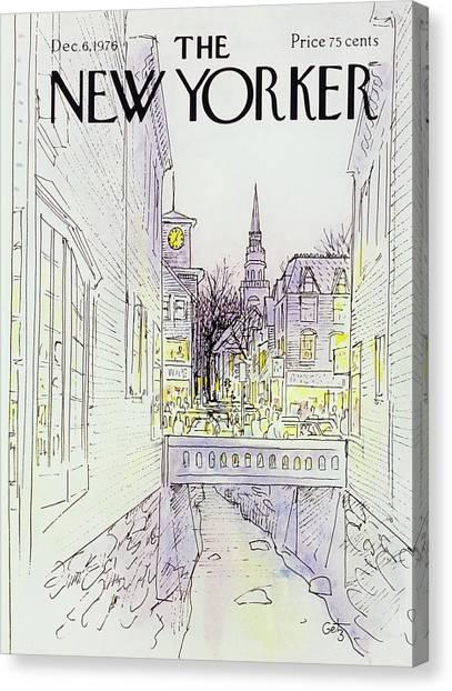 New Yorker December 6th 1976 Canvas Print by Arthur Getz