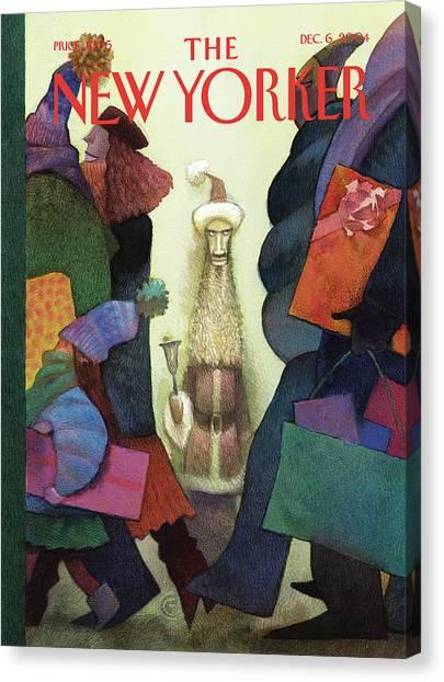 New Yorker December 6th, 2004 Canvas Print