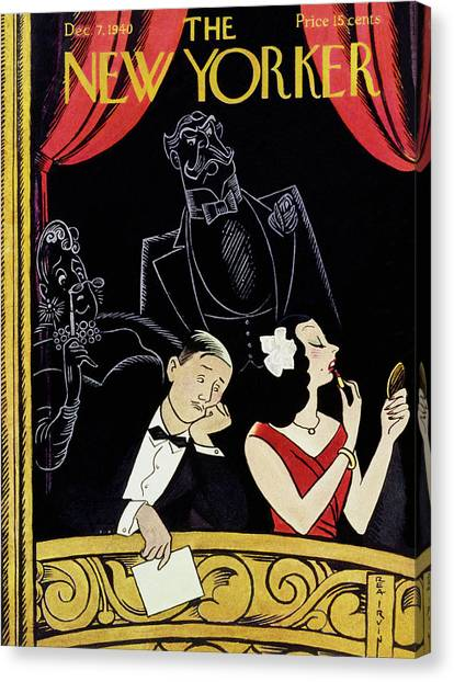 New Yorker December 7 1940 Canvas Print by Rea Irvin