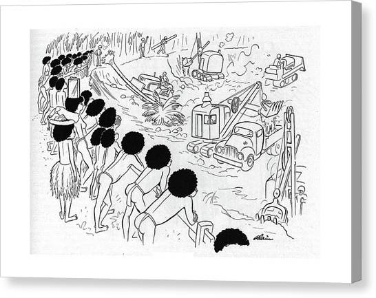 Bulldozers Canvas Print - New Yorker December 9th, 1944 by  Alain